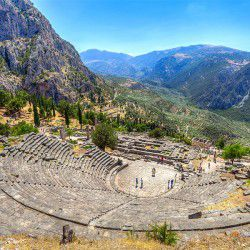 photo of ancient theatreofdelphi, Delphi, travel & discover mysterious Greece