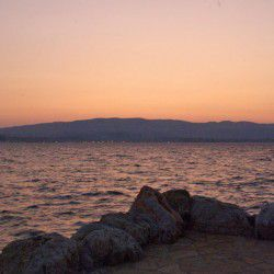 Katavothres Sunset © Claire Rowland by Flickr