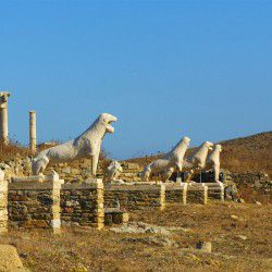 photo of lionsofdelos, Delos, travel & discover mysterious Greece