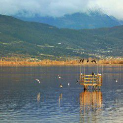 photo of pamvotida lake, Ioannina, travel & discover mysterious Greece