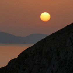 photo of sunset anafi, Anafi, travel & discover mysterious Greece