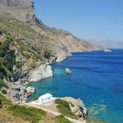 photo of agia anna beach, Amorgos, travel & discover mysterious Greece