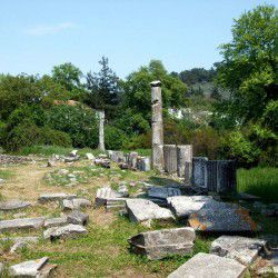 photo of ancient agora, Thassos, travel & discover mysterious Greece