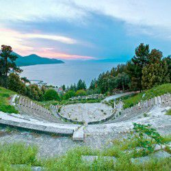 photo of ancient theatre, Thassos, travel & discover mysterious Greece