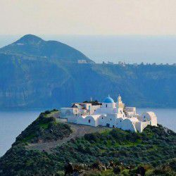 photo of monastery of pan agia, Thirassia, travel & discover mysterious Greece
