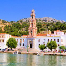 photo of monastery panormitis, Symi, travel & discover mysterious Greece