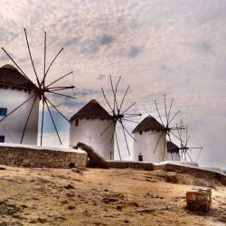 photo of windmills, Mykonos, travel & discover mysterious Greece