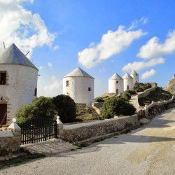 photo of windmills, Leros, travel & discover mysterious Greece