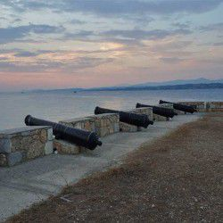 photo of cannon station, One Million Words, travel & discover mysterious Greece