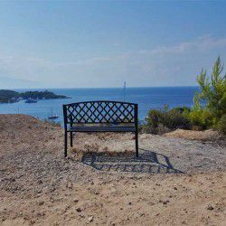 photo of the bench over zogeria, One Million Words, travel & discover mysterious Greece
