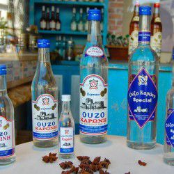 photo of karonis ouzo bottles, Made in Greece, travel & discover mysterious Greece