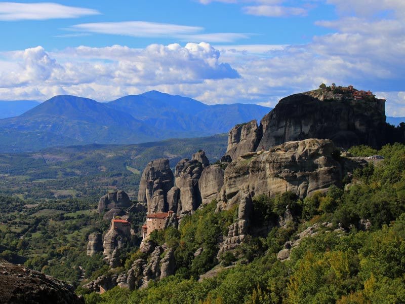 View of the Meteora Monasteries