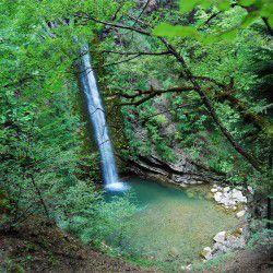 Waterfall of Mantania tou Daimona in Agia Paraskevi