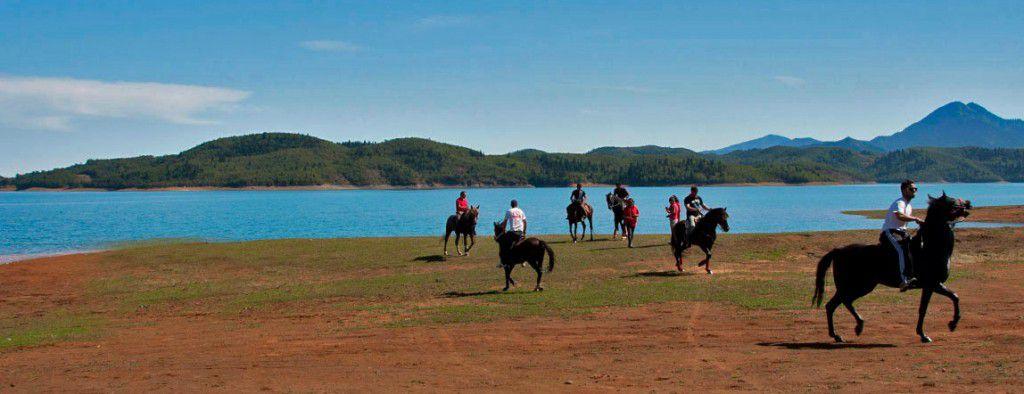 Horse Riding by Lake Plastira