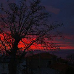 photo of sunset fromportaria, One Million Words, travel & discover mysterious Greece