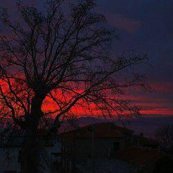 Sunset from Portaria © Mysteriousgreece.com