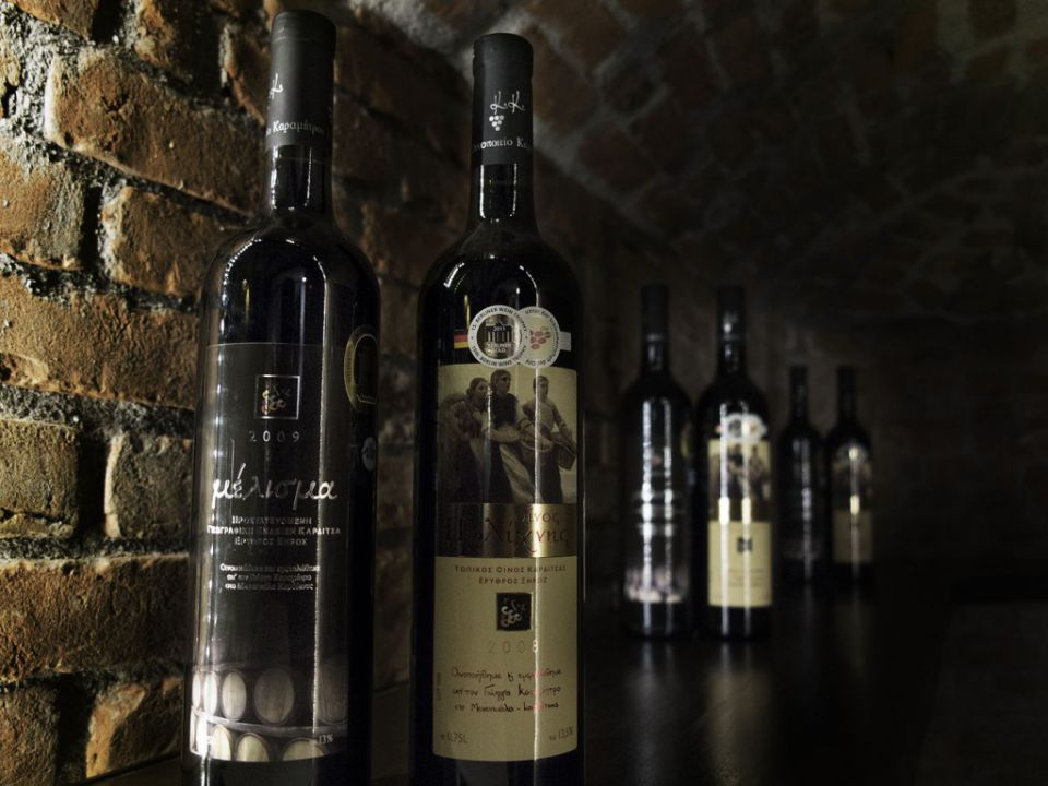 Wine Labels of Karamitros Winery