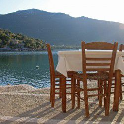 photo of tavern by the  sea  in limani geraka, One Million Words, travel & discover mysterious Greece