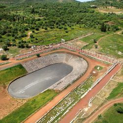 photo of aerial  view  of ancient  messene, One Million Words, travel & discover mysterious Greece