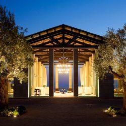 photo of the romanos entrance, Resorts & Villas, travel & discover mysterious Greece