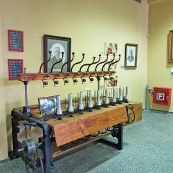 photo of mechanical yarn winding machine from zisimatos textile factory, Travel Experiences, travel & discover mysterious Greece