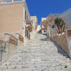 photo of staircase in hermoupolis, Travel Experiences, travel & discover mysterious Greece