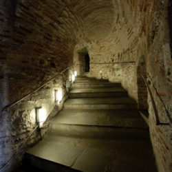 photo of staircase in the white tower, Thessaloniki, travel & discover mysterious Greece