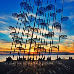 photo of the umbrellas, Thessaloniki, travel & discover mysterious Greece