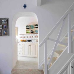 photo of staircase at ilivatos villa, Ilivatos Villa: On the edge of the Caldera, travel & discover mysterious Greece
